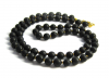 Shungite chaplet 6mm/70 beads (Gold)