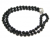 Shungite chaplet 6mm/70 beads (Silver)